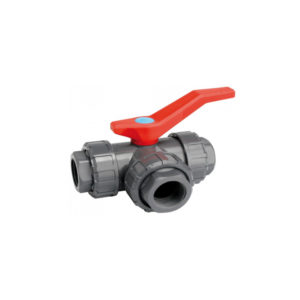3-way 50mm PVC Ball Valve
