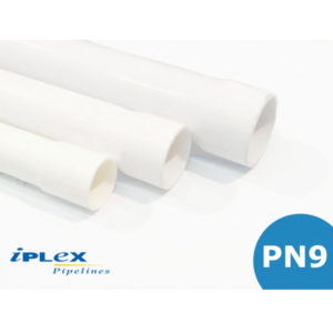 PN9 PVC Pipe - Socket One End 50mm - 80mm