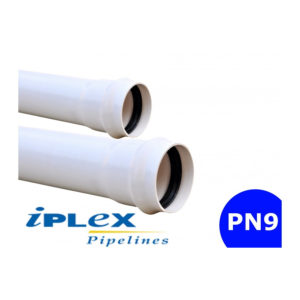 PN9 PVC Pipe - Rubber Ring Joint 50mm - 200mm