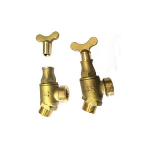 Brass tap and key